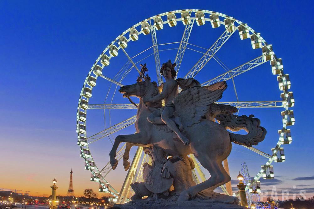 登上巴黎Concorde摩天轮,巴黎美景尽收眼底!