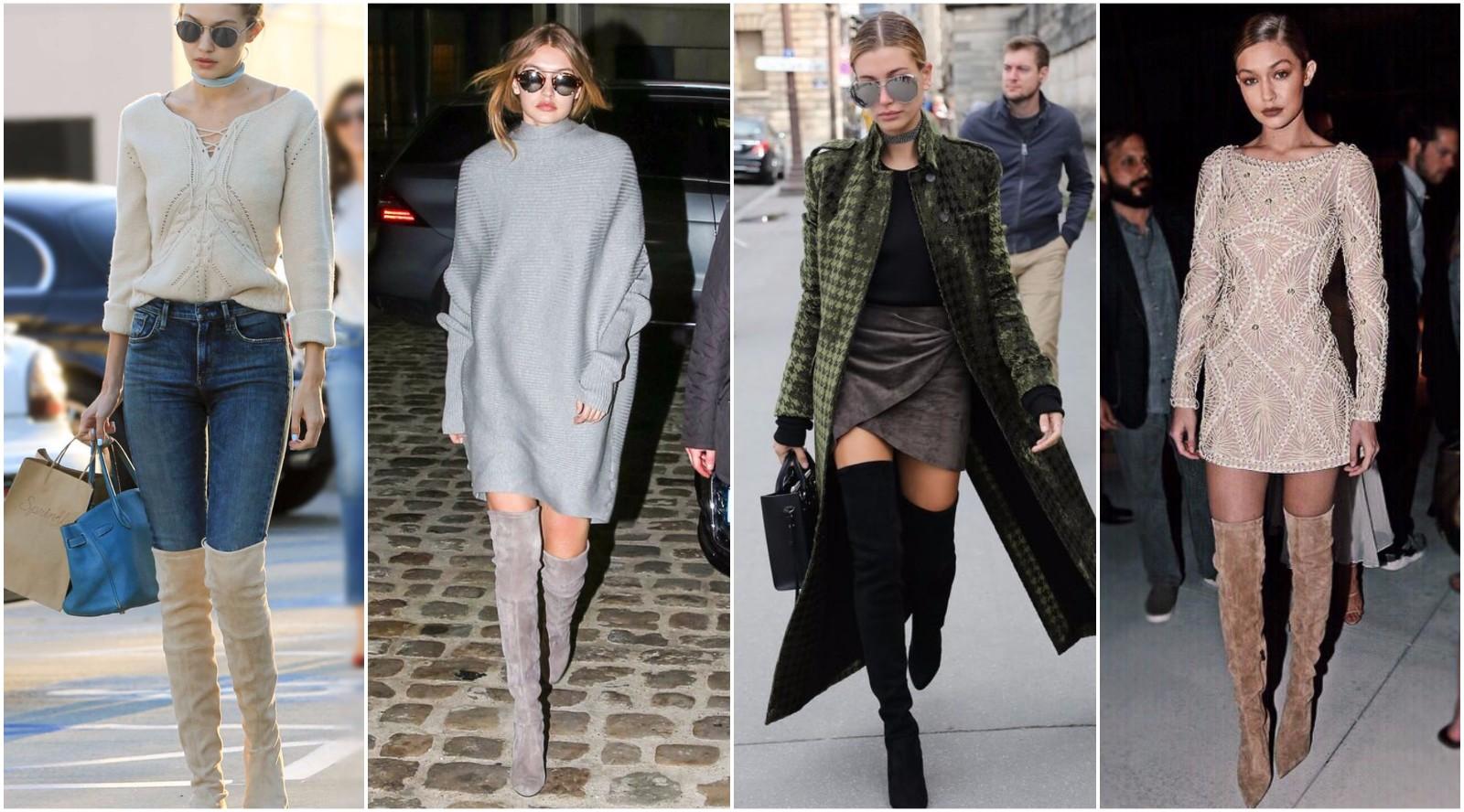 保暖时髦显腿长,一双过膝长靴满足你在冬天凹造型的所有要求
